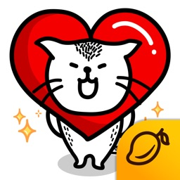 Heart Cat Lite - Mango Sticker