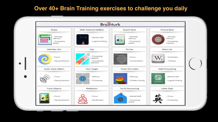 Brainturk Peak Brain Training to Elevate focus screenshot-1
