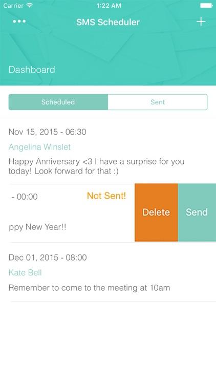 Simple SMS Scheduler - Auto Text Message Sending Timer screenshot-4