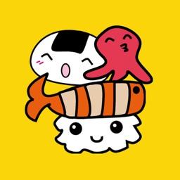 A Cute Sushi Stickers