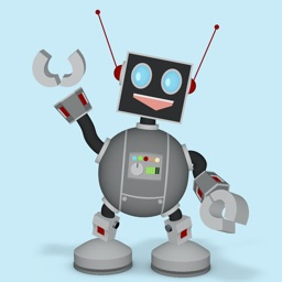 Happy Little Robot animated 3D Stickers