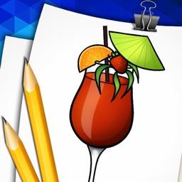 Step by Step Draw Apéritif Cocktails