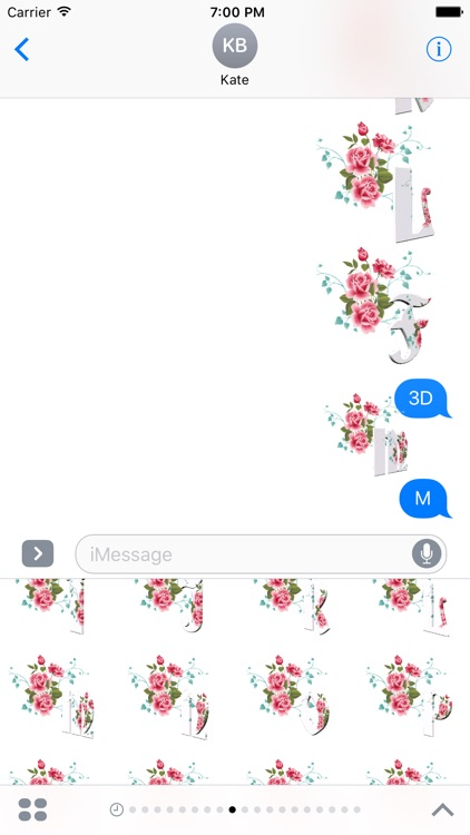 3D Flowers Stickers Pack For iMessage screenshot-3