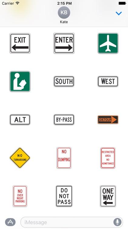 SignMoji: US Road Signs 2 screenshot-3