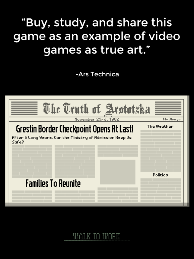 ‎Papers, Please Screenshot