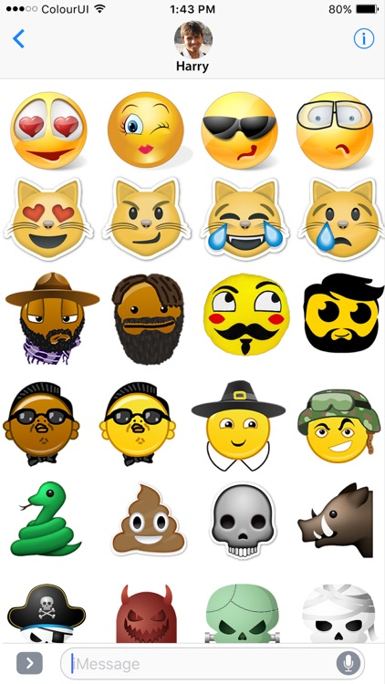 Stickers & Emojis Stock for iMessage screenshot-0