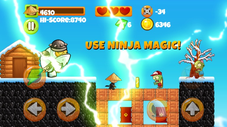 Ninja Kid vs Zombies - 8 Bit Retro Game