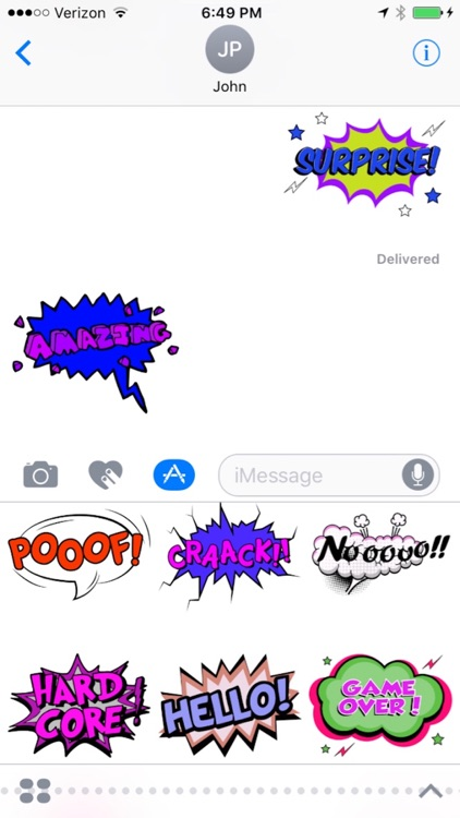 Comic Talks Stickers for iMessages screenshot-4