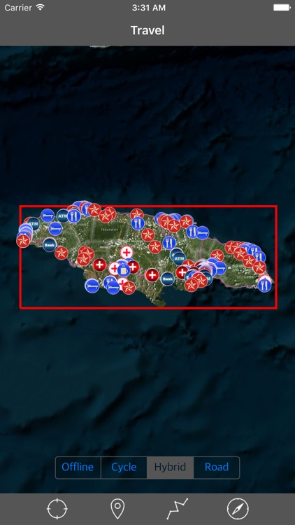 JAMAICA – GPS Travel Map Offline Navigator screenshot-0