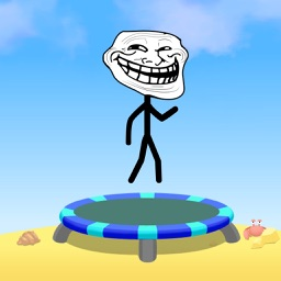 Backflip Trampoline Troll Madness: Hop Fun Games