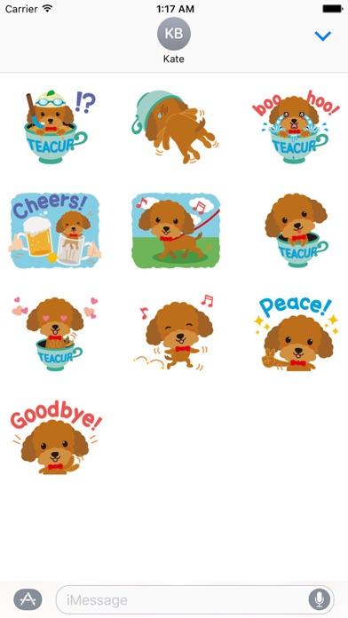 Cute Teacup Poodle Dog Sticker screenshot 3