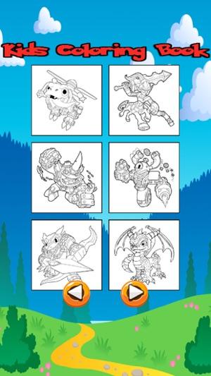 Personajes de dibujos animados para colorear Libro en App Store
