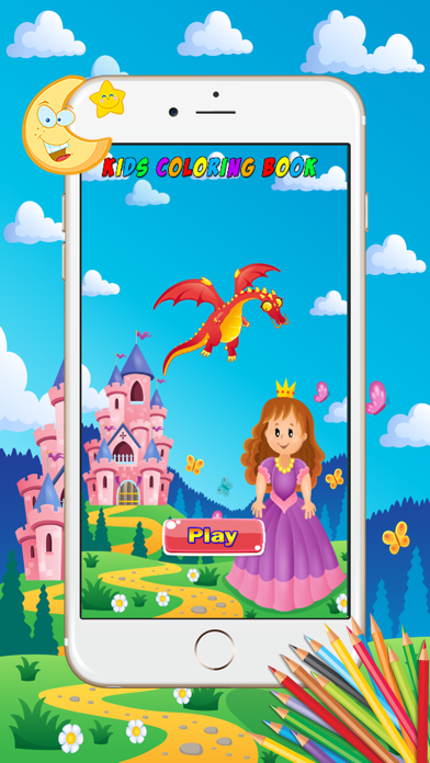 Princess Coloring Book - Paint Learning For Kids screenshot one