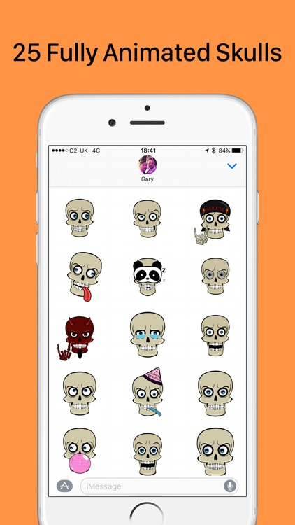 SkullMoji - Animated Fun Skull Stickers Halloween