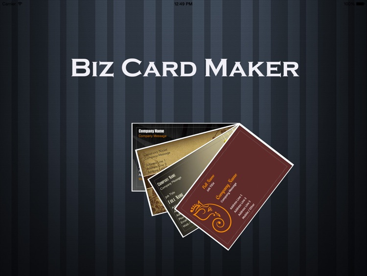 Biz Card Maker screenshot-0