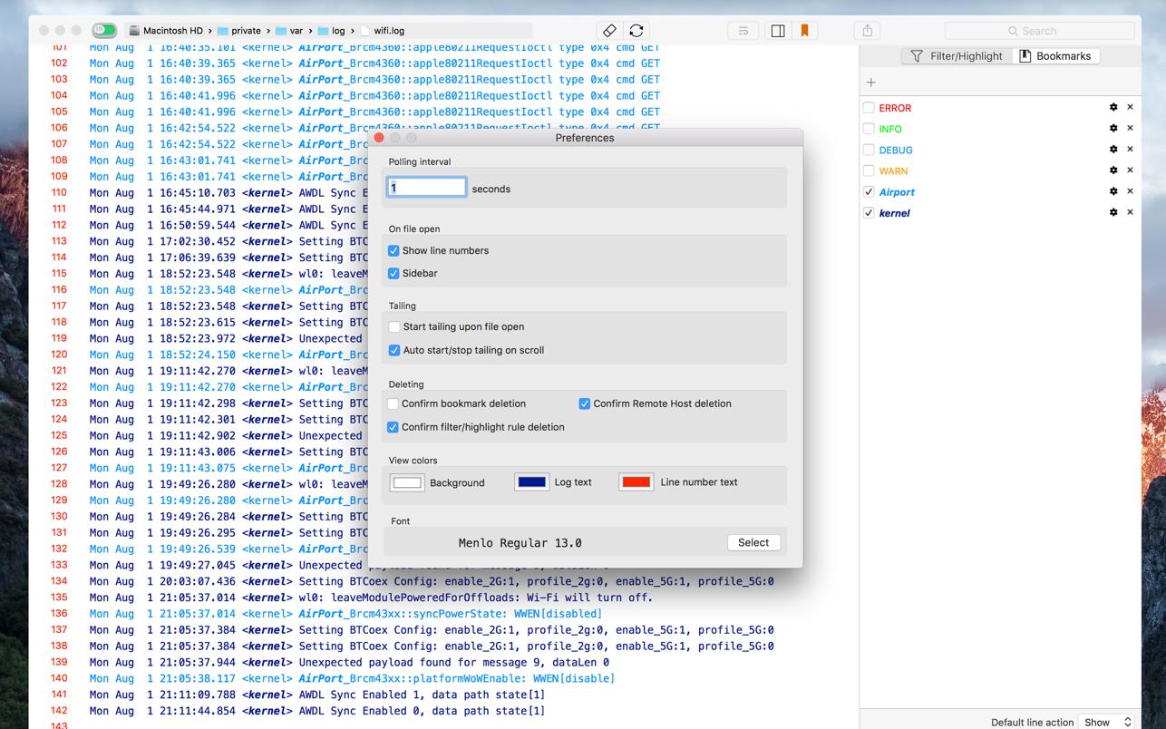 LogTail Mac 破解版 Mac日志文件浏览工具-麦氪搜(iMacso.com)