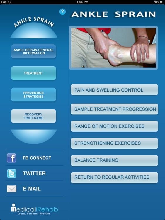Medical iRehab AnkleSprain
