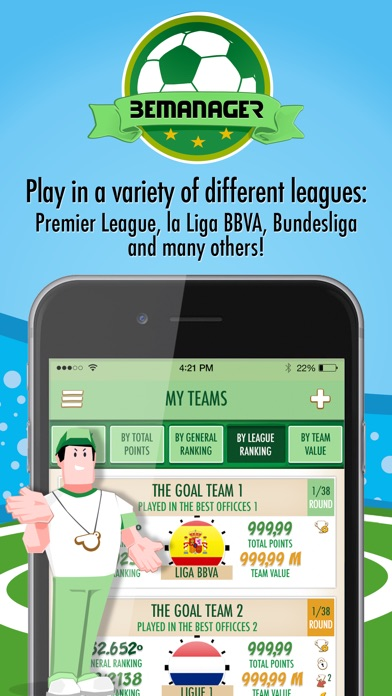 download BeManager - Manage your football team apps 4