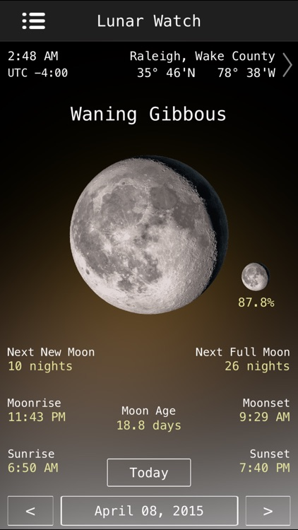 Lunar Watch Full moon calendar screenshot-3