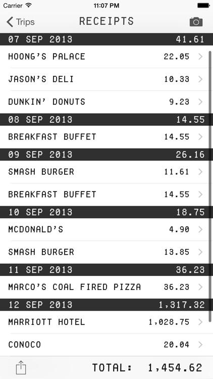Trip Receipts: Simple Expense Tracking screenshot-3