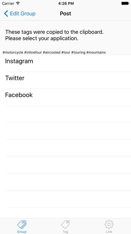 Hashtag Memo Lite screenshot-3