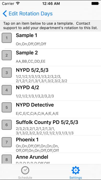 CopApp ! Calendar Schedule Repeating Shift App screenshot-4
