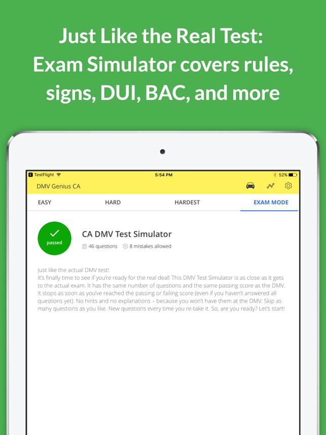 DMV Genie Permit Practice Test on the App Store