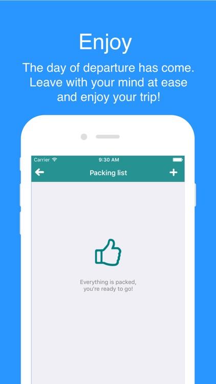 My Trip List - Plan all your trips easily. screenshot-4