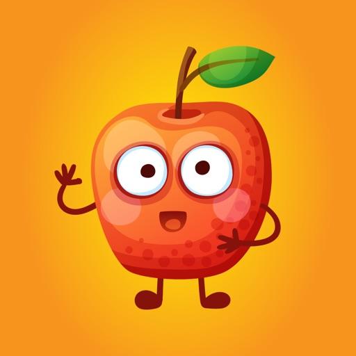 Funny Fruit Emojis Sticker App