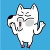 点击获取White Dog Animated Stickers