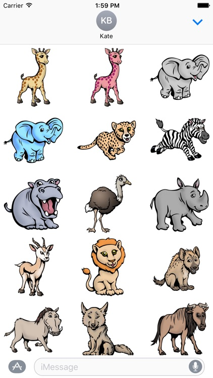BabySafari Stickers