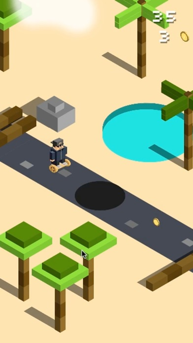 Screenshot #3 for Jumpy Desert : Hovercraft Adventures in Wild West