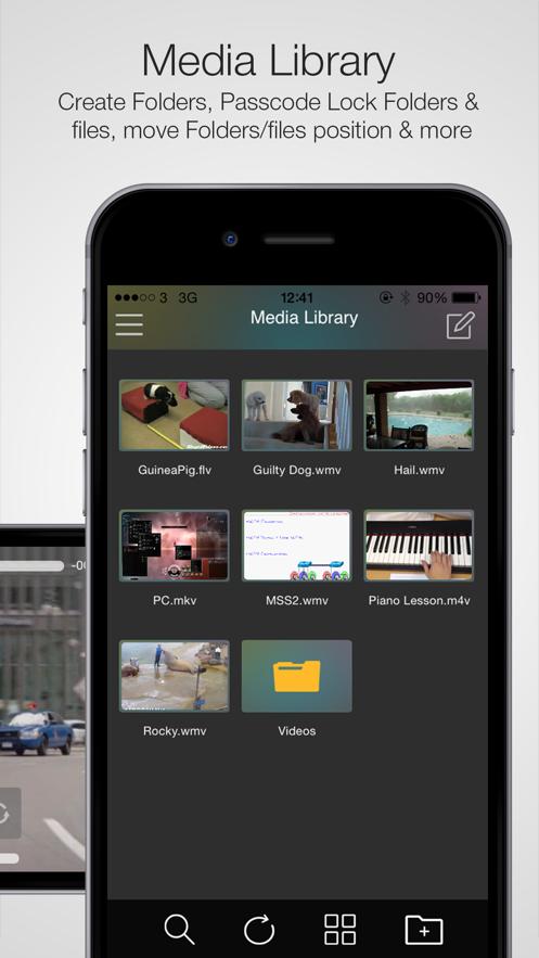 WMV HD Player Pro - Importer App 截图