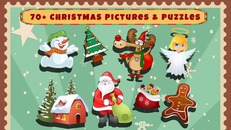 Christmas Shapes Puzzle - Educational Word Learning Game for Kids & Toddlers