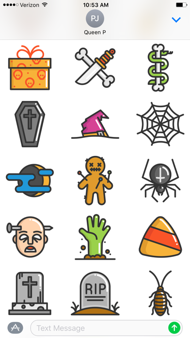 Fun Halloween Stickers Screenshot