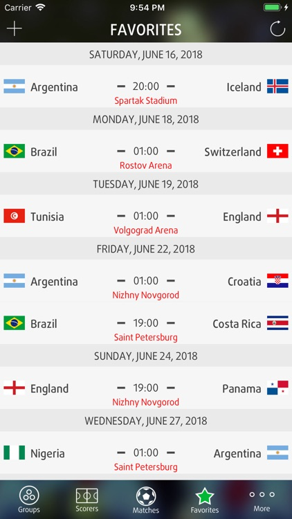 Live Scores for World Cup 2018 screenshot-3