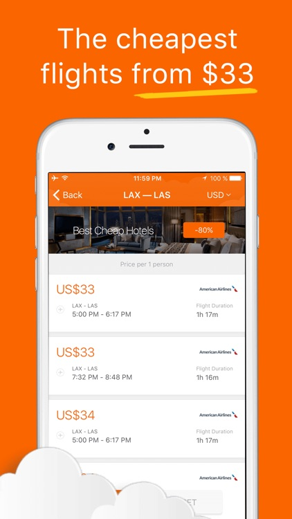 Cheap Flights, Airfare Deals & Last-Minute Offers on US Airline Tickets - Search for Discount screenshot-3