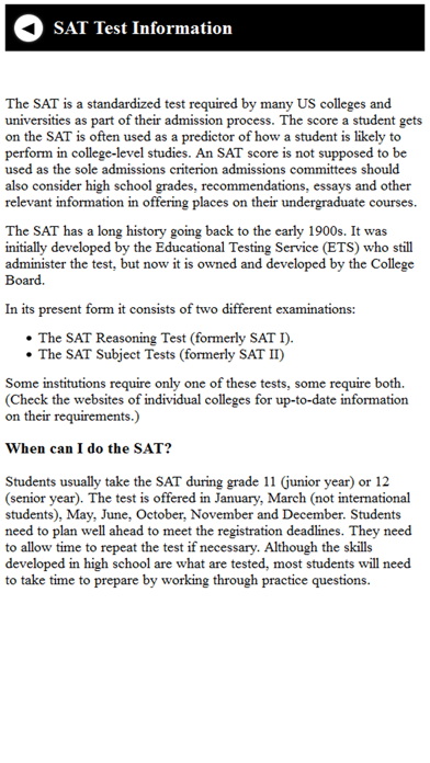 assessing the merit of the sat standardized test Sat - scholastic aptitude test the sat is a standardized test designed to measure basic critical reading, math and writing skills most colleges and universities request act or sat score results from applicants.