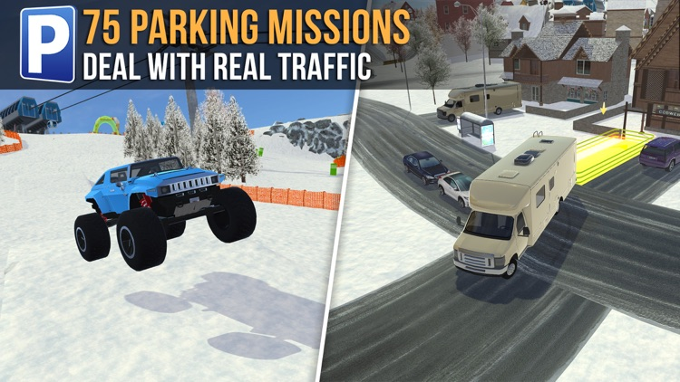 Ski Resort Parking Sim Ice Road Snow Plow Trucker screenshot-3