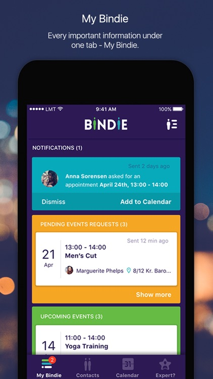 Bindie - Schedule appointments