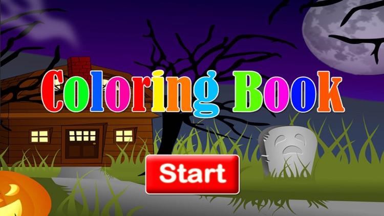 Preschool Halloween Coloring page screenshot-4