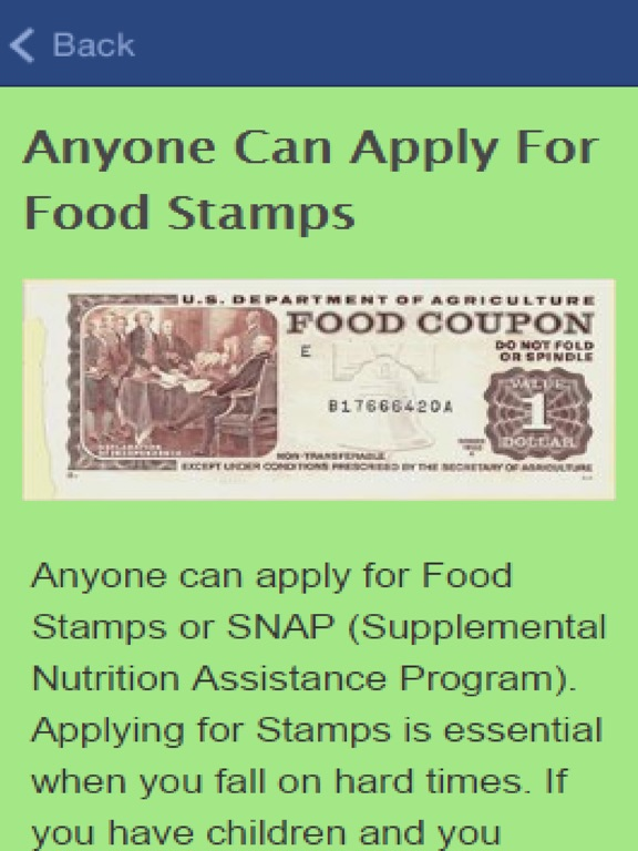 How To Apply For Food Stamps App Price Drops