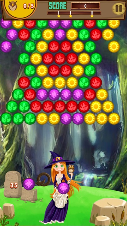 Rouge Bubble Shooter Witch Magic Society screenshot-3