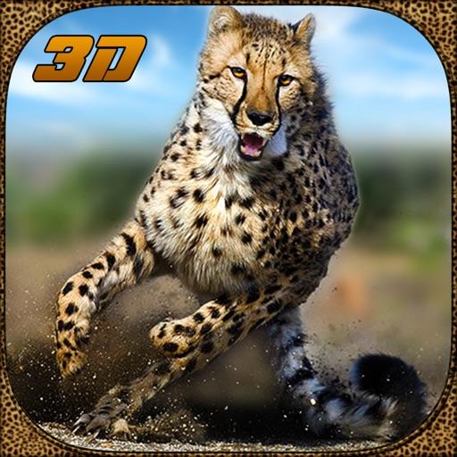 Дикая природа симулятор гепард атака 3D - преследовать диких животных, охотиться на них в этом сафари приключений