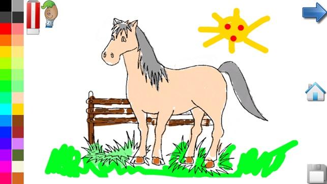 Paarden Kleurplaten Is Mijn Pony.Kleurplaten Van Paarden Pony In De App Store