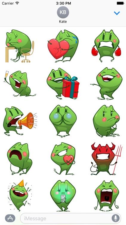 Cartoon Frog - Stickers for iMessage screenshot-3