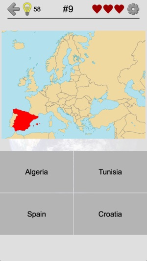 Map Of Spain Quiz.Maps Of All Countries Geo Quiz On The App Store