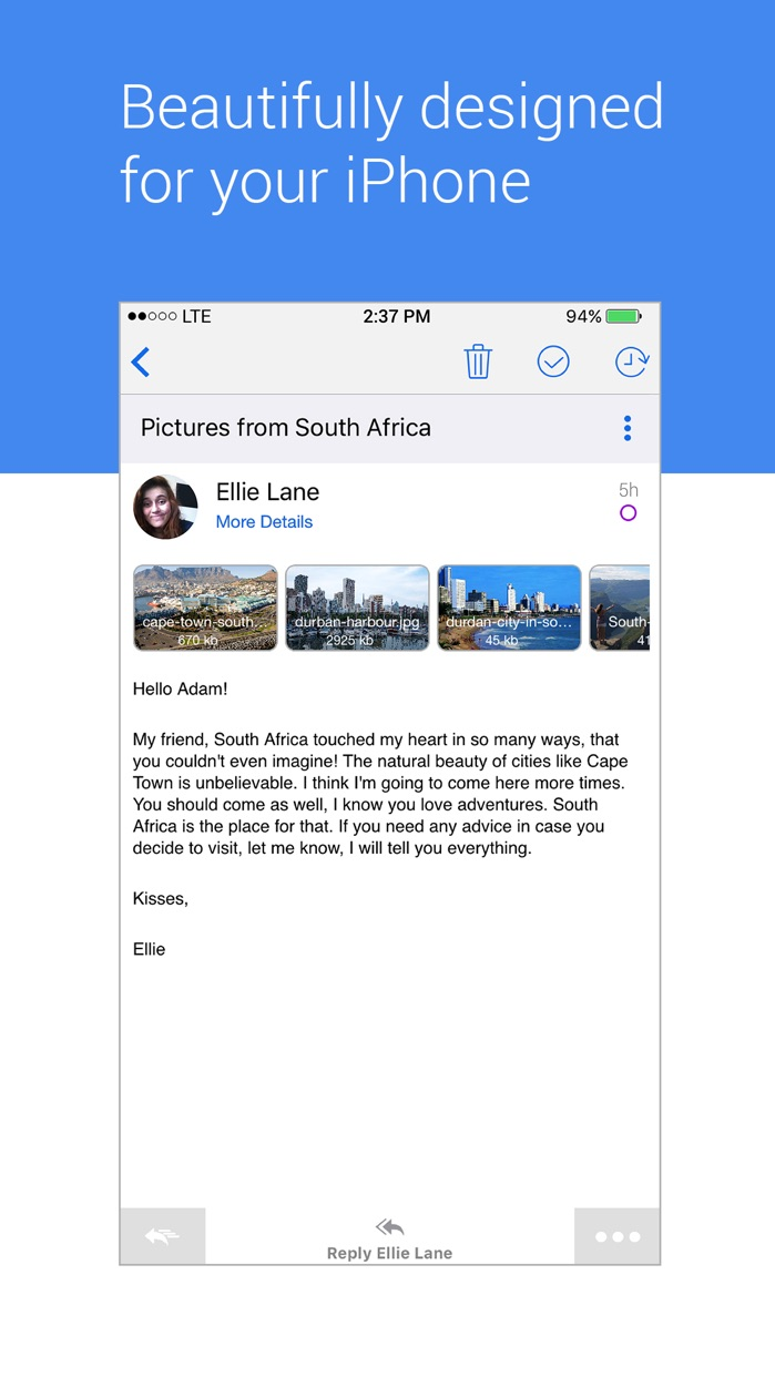Blue Mail - Email Mailbox Screenshot