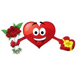 Emotion Heart Sticker - Emoji