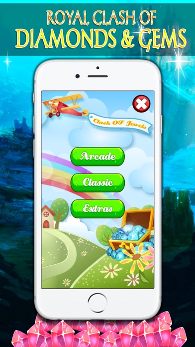 Royal Clash of Diamonds and Gems - Puzzle screenshot one